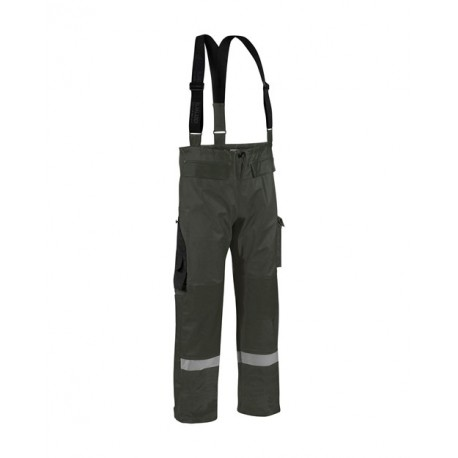 Pantalon de pluie tissu lourd Vert armée