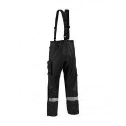 Pantalon de pluie tissu lourd noir