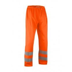 Pantalon de pluie haute-visibilite orange