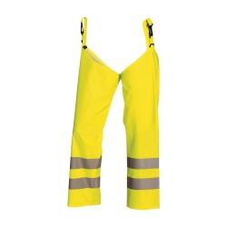 Guêtres de pantalons haute-visibilite Jaune