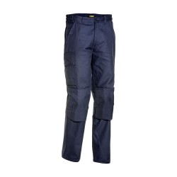 Pantalon Cargo Poches Genouillères Marine