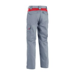 Pantalon Industrie Gris/Rouge