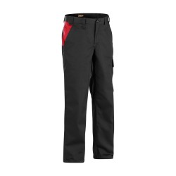 Pantalon Industrie Noir/Rouge